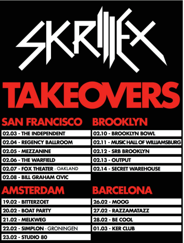 Skrillex Takeovers tour Barcelona